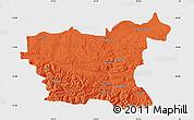 Political Map of Lovec, single color outside