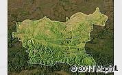 Satellite Map of Lovec, darken