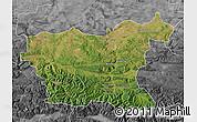 Satellite Map of Lovec, desaturated