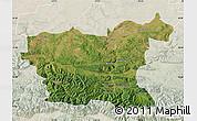 Satellite Map of Lovec, lighten