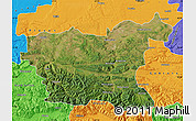Satellite Map of Lovec, political outside