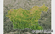 Satellite Map of Lovec, semi-desaturated