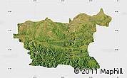 Satellite Map of Lovec, single color outside