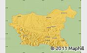 Savanna Style Map of Lovec, single color outside
