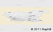Classic Style Panoramic Map of Lovec, single color outside