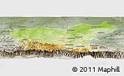 Physical Panoramic Map of Lovec, semi-desaturated