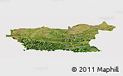 Satellite Panoramic Map of Lovec, cropped outside