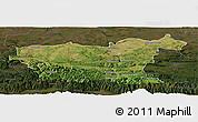 Satellite Panoramic Map of Lovec, darken