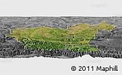Satellite Panoramic Map of Lovec, desaturated