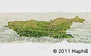 Satellite Panoramic Map of Lovec, lighten