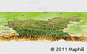 Satellite Panoramic Map of Lovec, physical outside