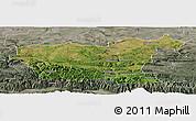 Satellite Panoramic Map of Lovec, semi-desaturated