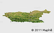 Satellite Panoramic Map of Lovec, single color outside