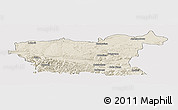 Shaded Relief Panoramic Map of Lovec, cropped outside