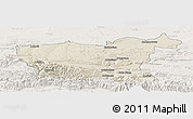 Shaded Relief Panoramic Map of Lovec, lighten