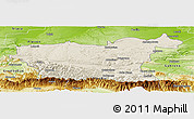 Shaded Relief Panoramic Map of Lovec, physical outside