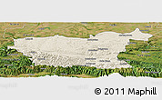 Shaded Relief Panoramic Map of Lovec, satellite outside