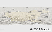 Shaded Relief Panoramic Map of Lovec, semi-desaturated