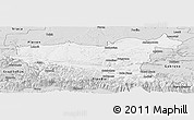 Silver Style Panoramic Map of Lovec