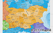 Political Shades Map of Bulgaria