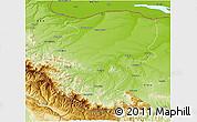 Physical 3D Map of Montana