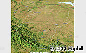 Satellite 3D Map of Montana