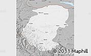 Gray Map of Montana