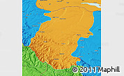 Political Map of Montana