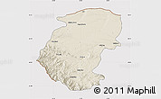 Shaded Relief Map of Montana, cropped outside