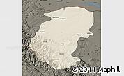 Shaded Relief Map of Montana, darken