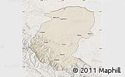 Shaded Relief Map of Montana, lighten