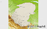 Shaded Relief Map of Montana, physical outside