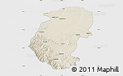 Shaded Relief Map of Montana, single color outside