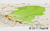 Physical Panoramic Map of Montana, shaded relief outside