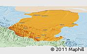 Political Panoramic Map of Montana, lighten