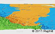 Political Panoramic Map of Montana