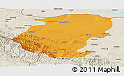 Political Panoramic Map of Montana, shaded relief outside