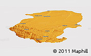 Political Panoramic Map of Montana, single color outside