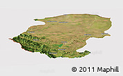 Satellite Panoramic Map of Montana, cropped outside