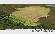 Satellite Panoramic Map of Montana, darken