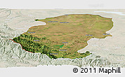 Satellite Panoramic Map of Montana, lighten