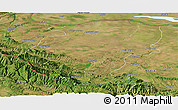 Satellite Panoramic Map of Montana