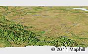 Satellite Panoramic Map of Montana