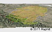 Satellite Panoramic Map of Montana, semi-desaturated
