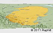 Savanna Style Panoramic Map of Montana
