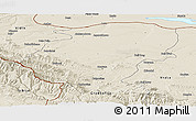 Shaded Relief Panoramic Map of Montana