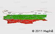 Flag Panoramic Map of Bulgaria