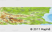 Physical Panoramic Map of Bulgaria