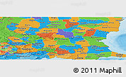 Political Panoramic Map of Bulgaria