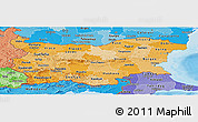 Political Shades Panoramic Map of Bulgaria